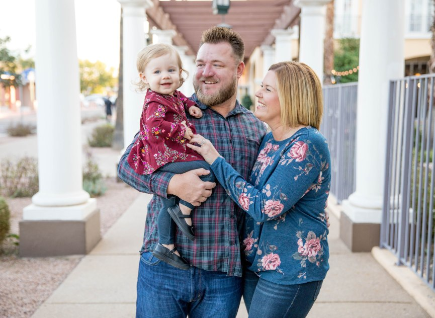 dad holds toddler girl mom smiles toddler family pictures kids children aribella photography