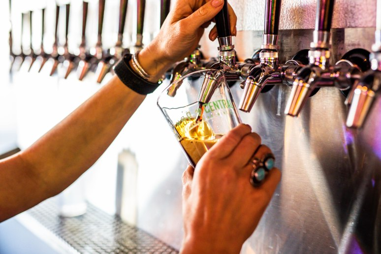 glass under beer tap being filled aribella photography brand branding photography
