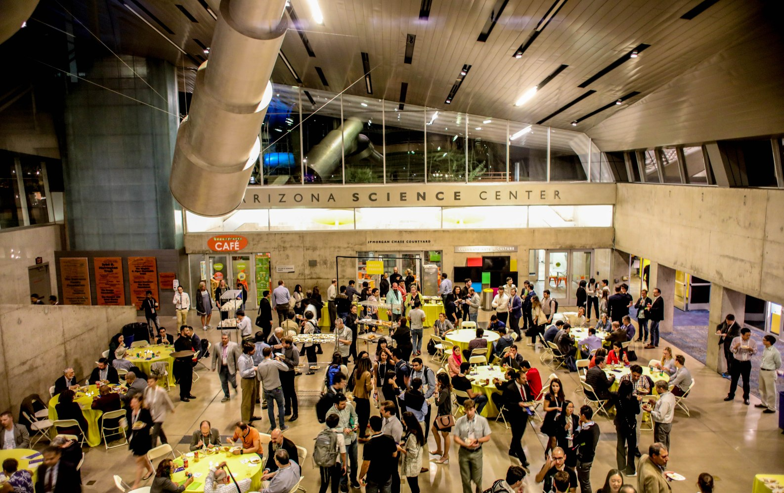 arizona science center lobby filled with guests aribella photography event pictures